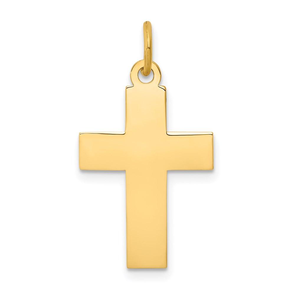 14k 14kt Yellow gold Cross Pendant 29 mm X 15 mm