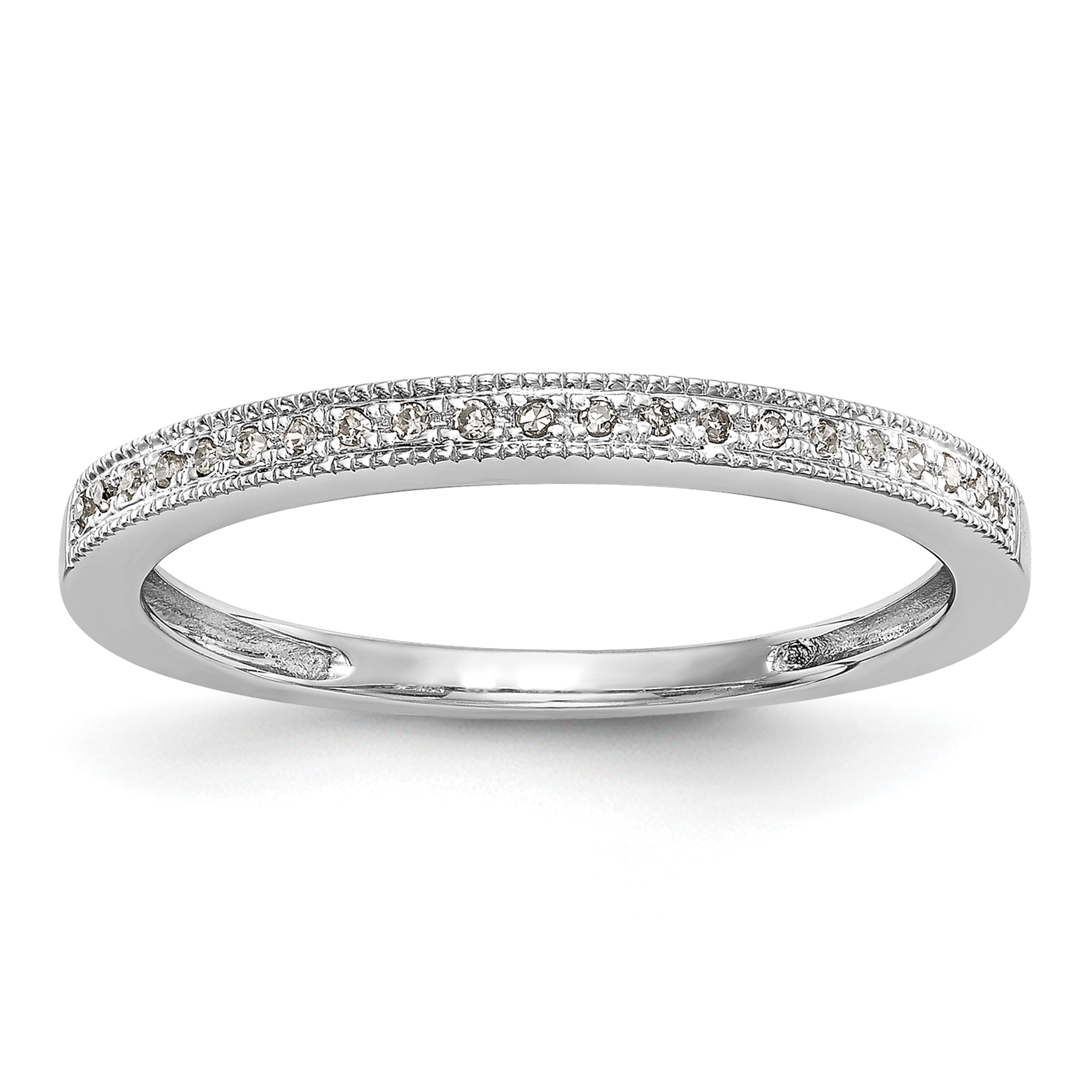 14k White Gold Diamond Set of 2 Wedding Band