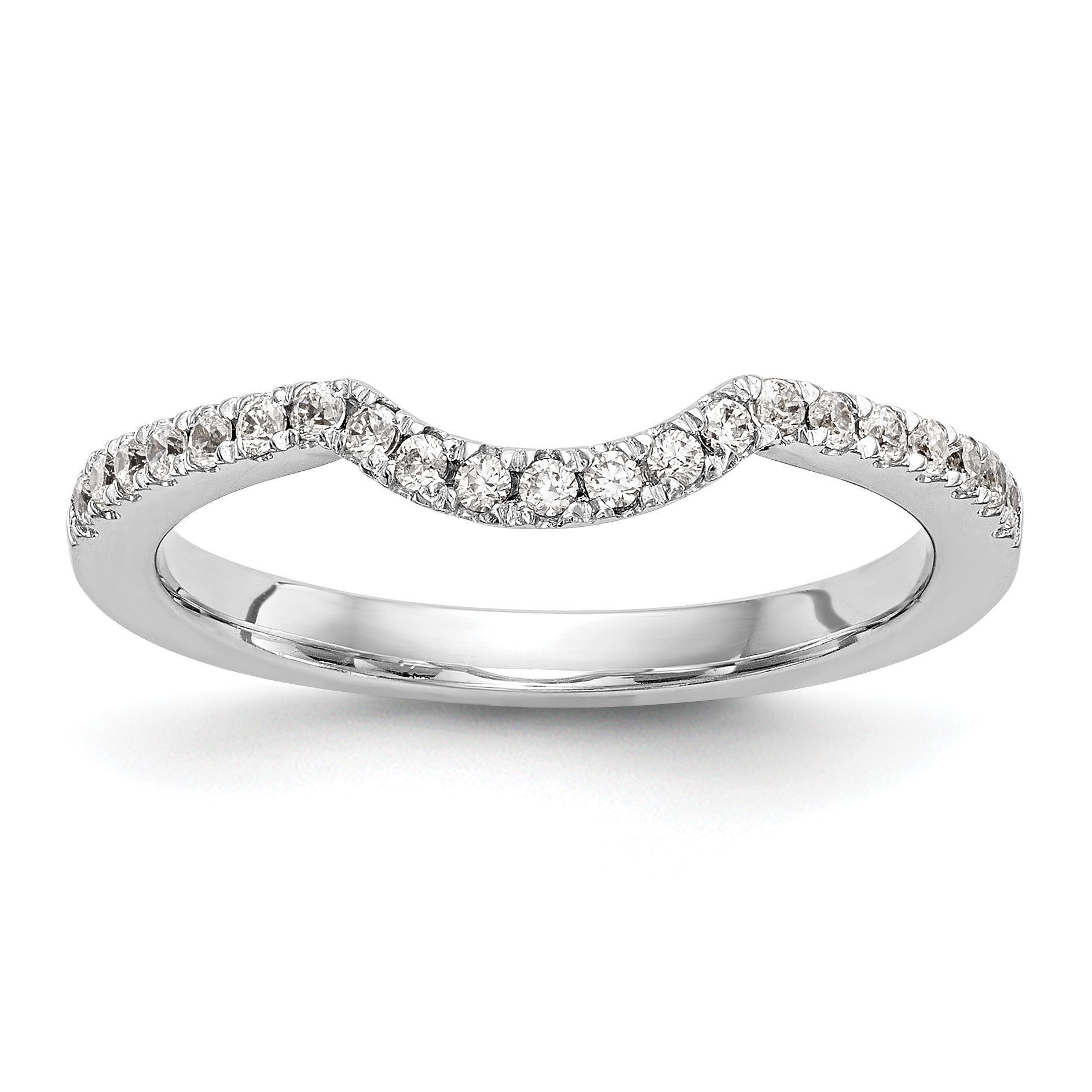 14k White Gold Wedding Band Mounting