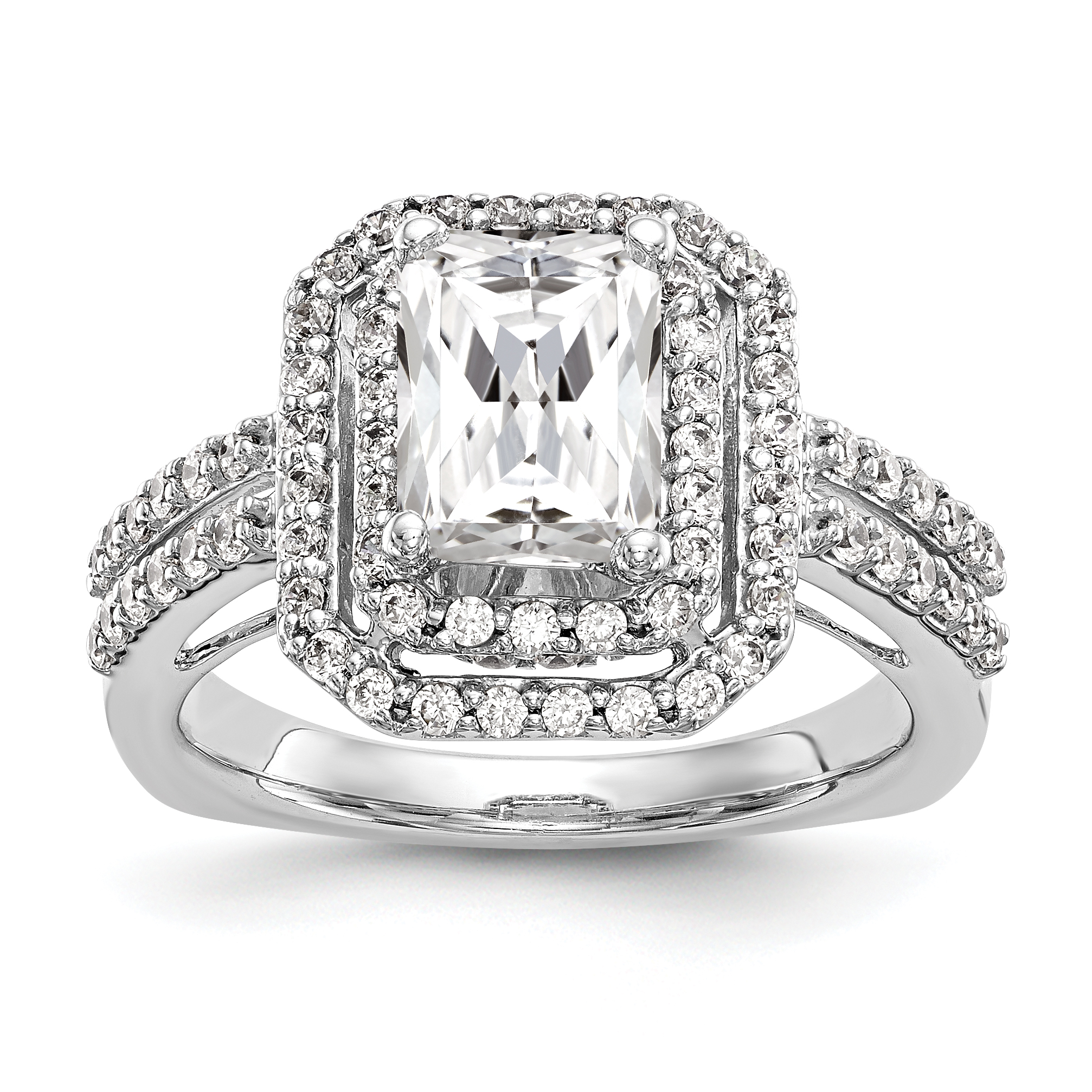 a princess double dia engagement halo genuine rg cut ring itm rings ladies gold diamond