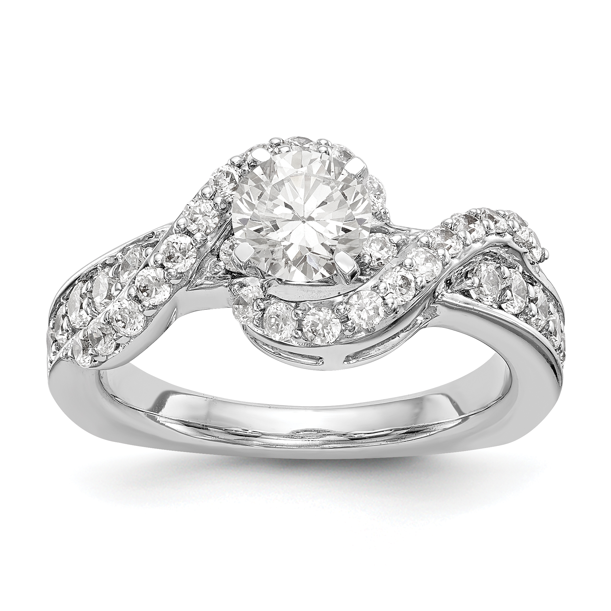 amouria engagement diamond ring halo wedding bypass rings curved