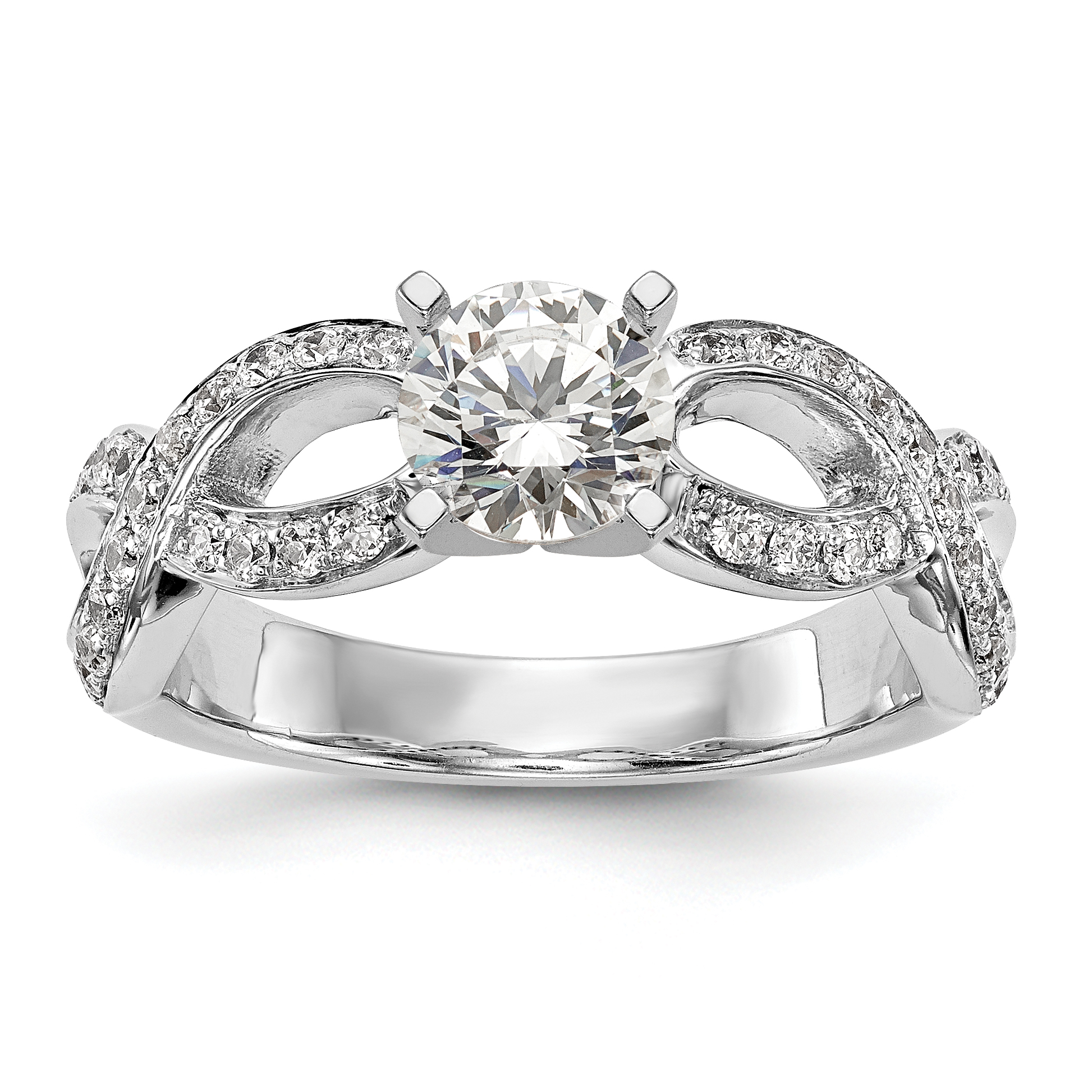 pin tdw engagement miadora in infinity floral rings diamond ring