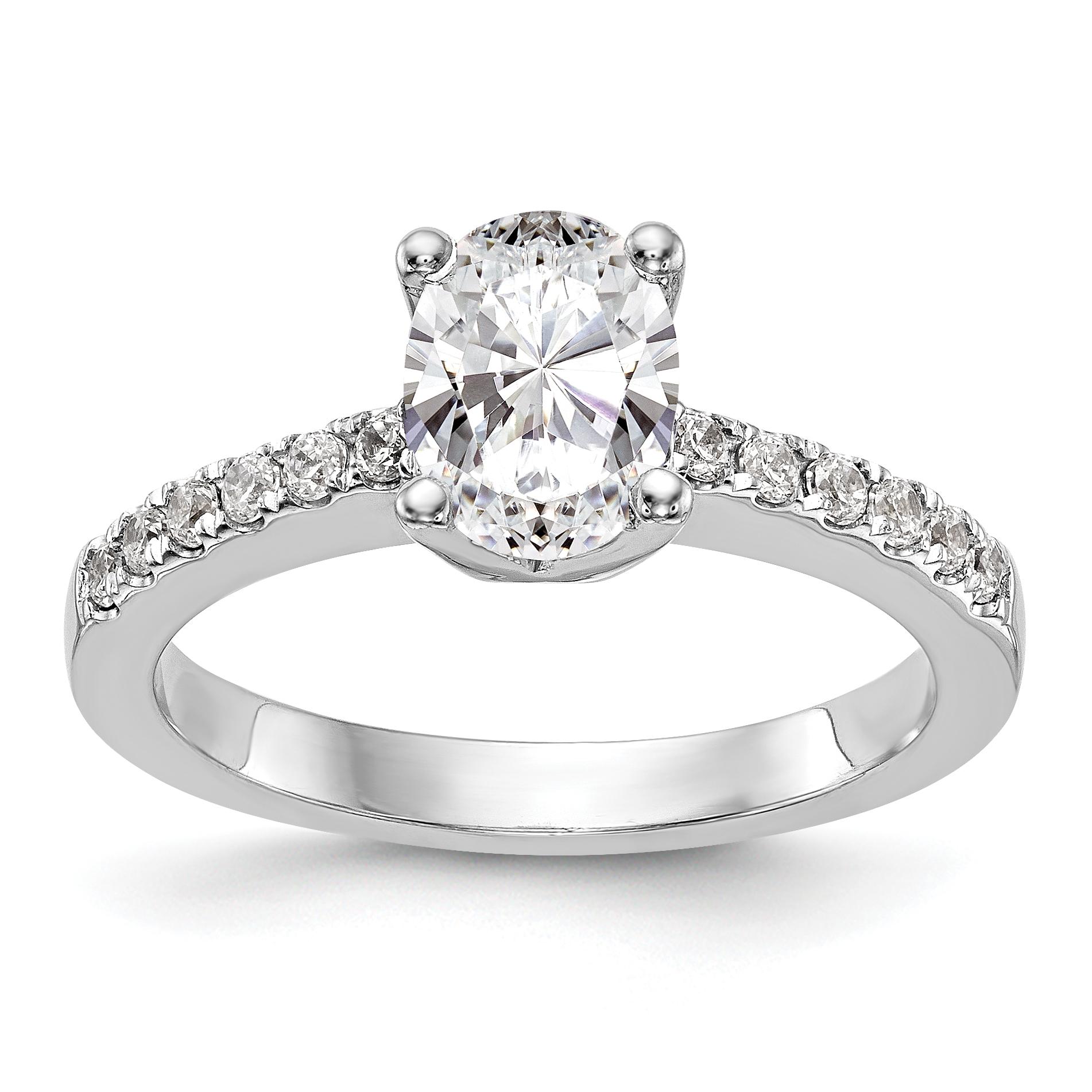14kw True Origin Lab Grown Dia VS SI colorless Semi-Mount Engagement Ring