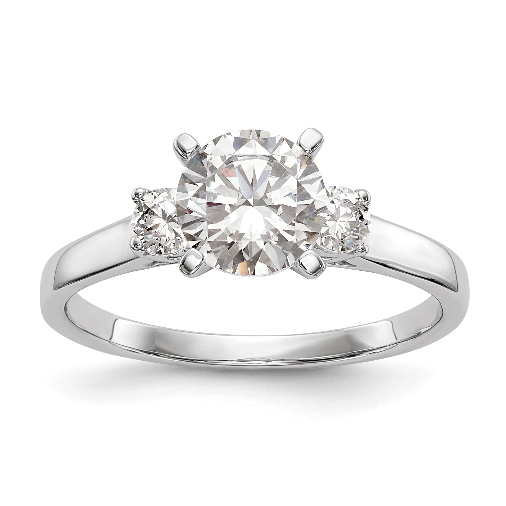 ring shank three single diamond jewellery unito enga stone engagement danhov