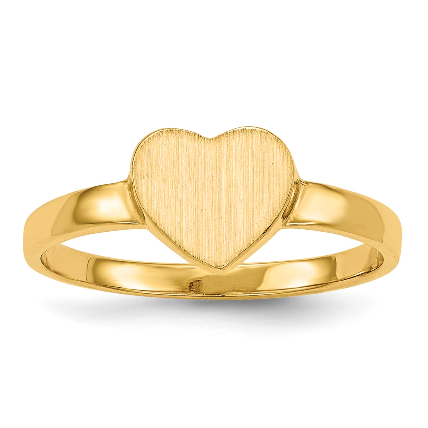 14k Yellow gold Engravable Signet Ring (7mm x 7.6mm face)