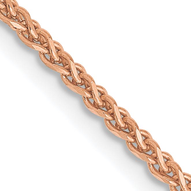 14k Rose Gold 1.40mm Spiga  Chain. Weight: 4.54,  Length: 16