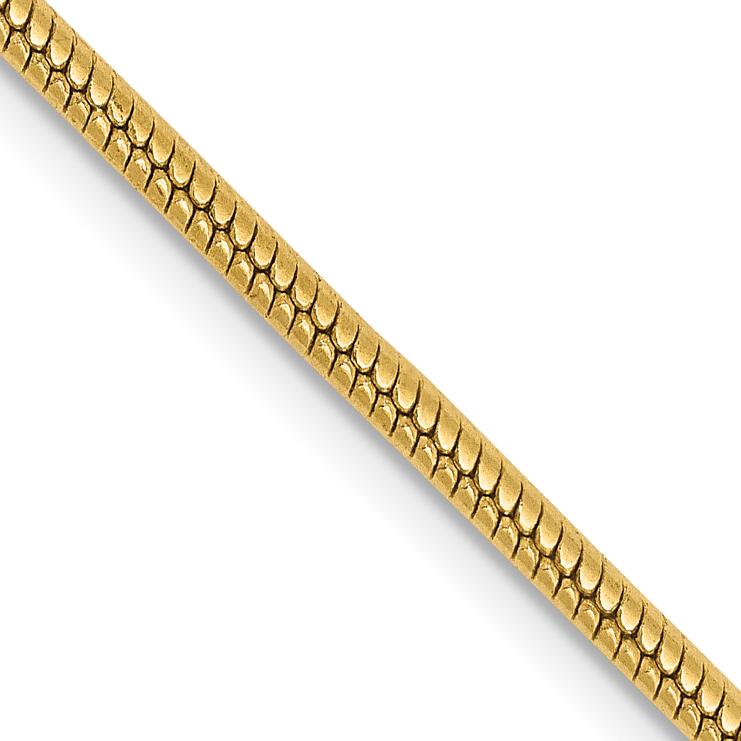 14k 1.85mm Round Snake Chain. Weight: 12,  Length: 16