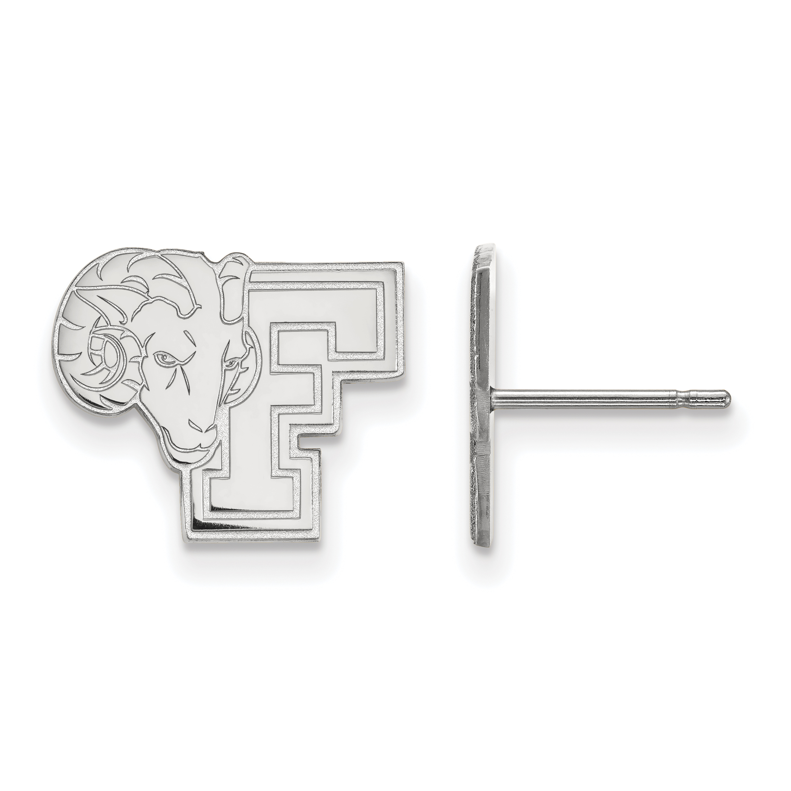 10kw Fordham University Small Post Earrings. weight: 2, Lengh: 11mm