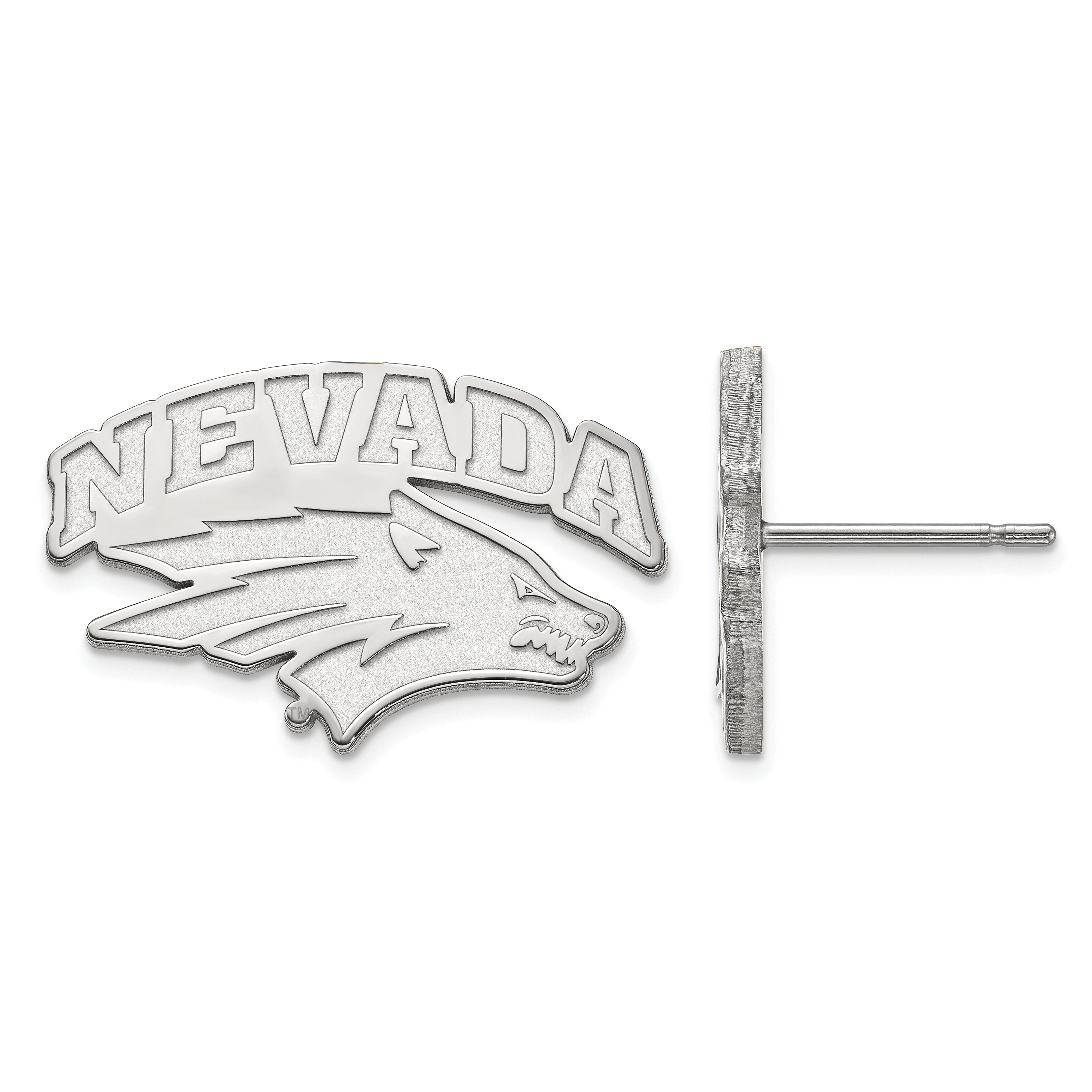 10kw University of Nevada Small Post Earrings. weight: 2.55, Lengh: 13mm
