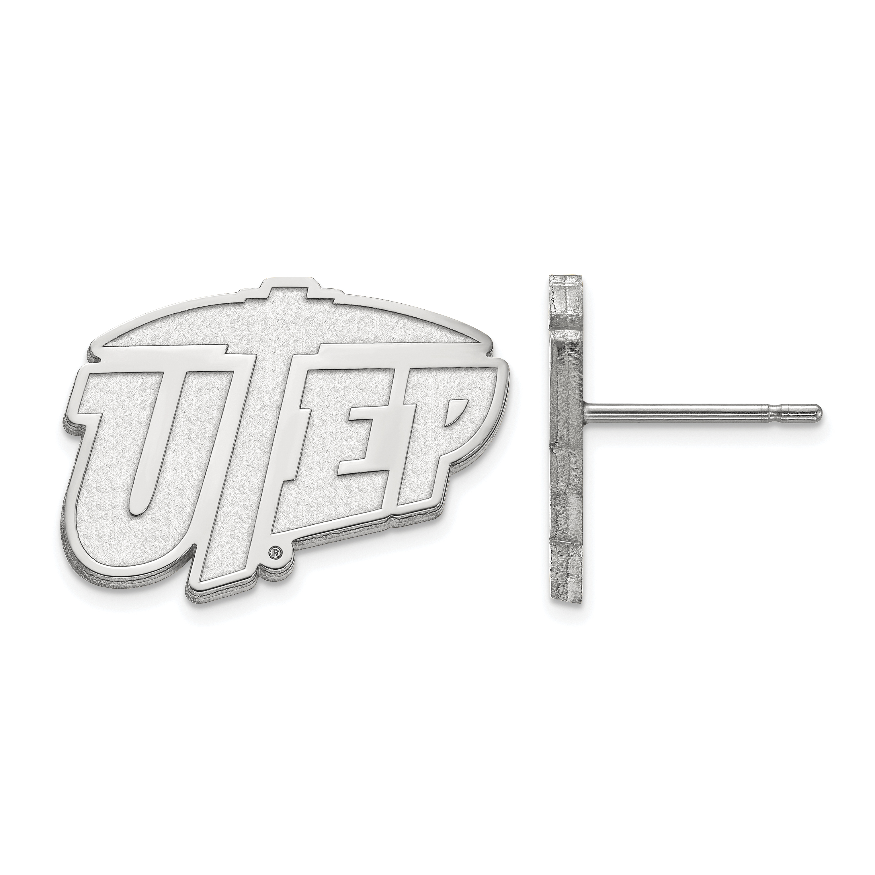 10kw The University of Texas at El Paso Small Post Earrings. weight: 2.32, Lengh: 12mm