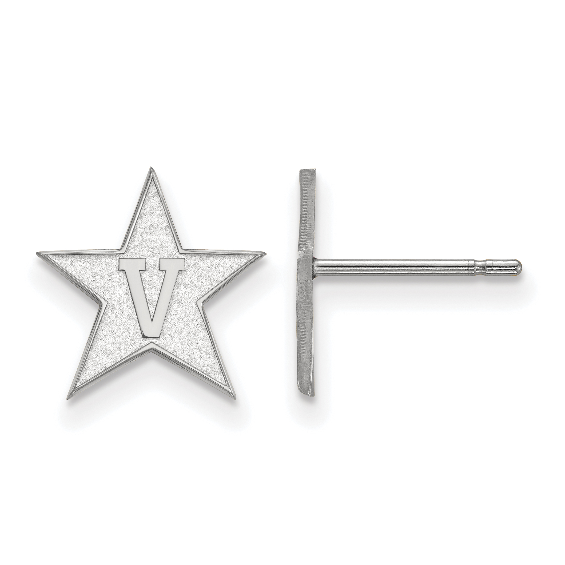 10kw Vanderbilt University Small Post Earrings. weight: 0.79, Lengh: 12mm