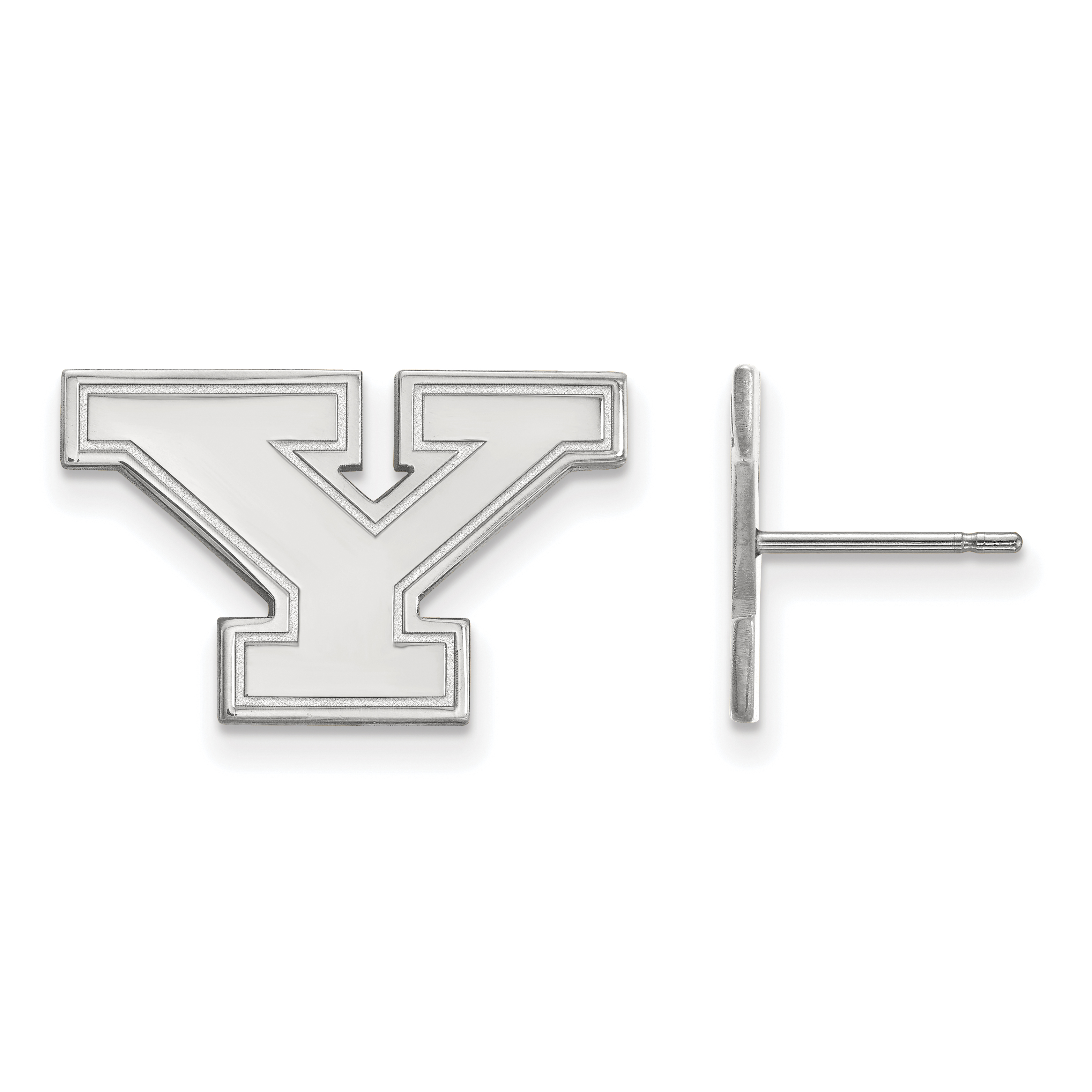 10kw Youngstown State University Small Post Earrings. weight: 2.64, Lengh: 12mm