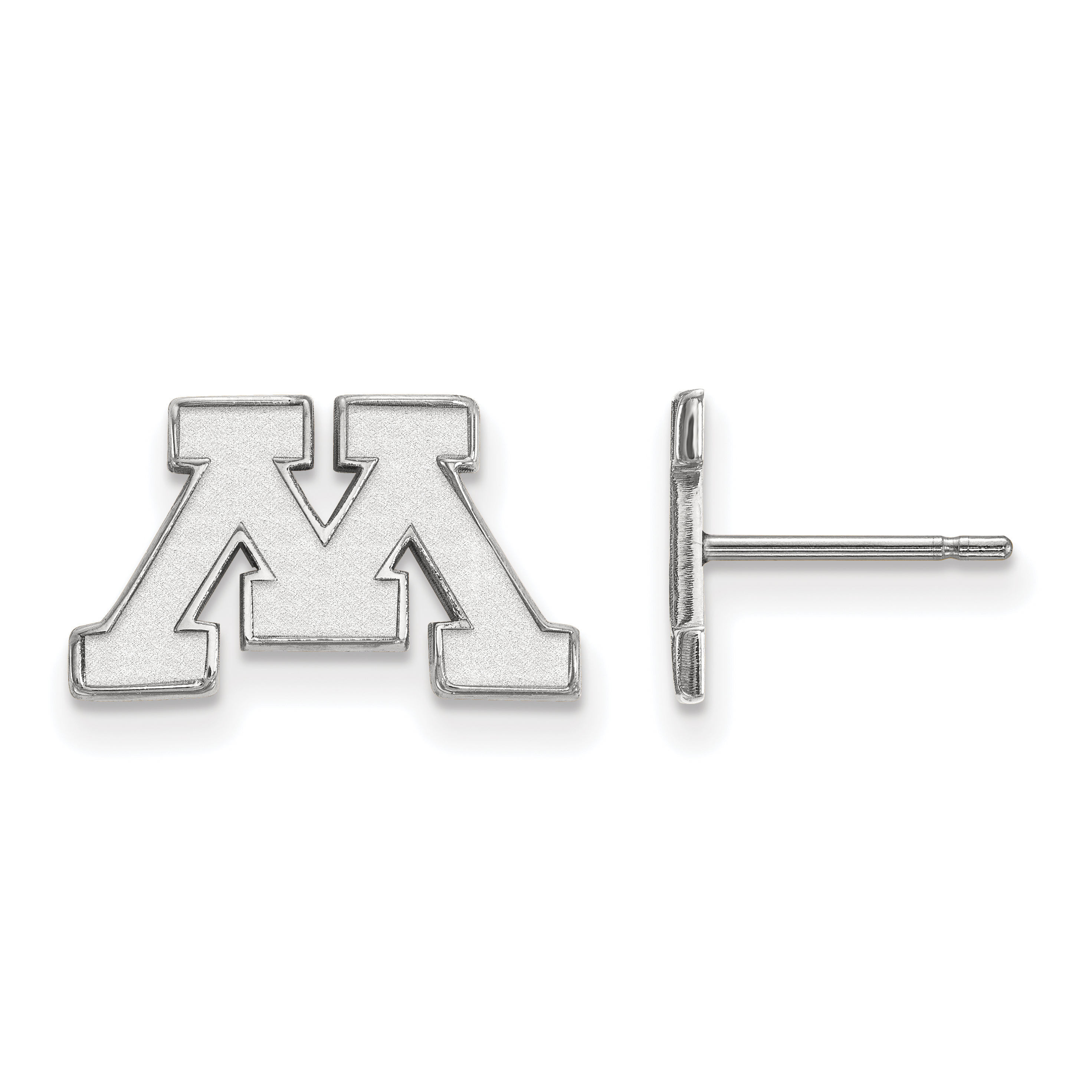 10kw University of Minnesota XS Post Earrings. weight: 1.34, Lengh: 9mm