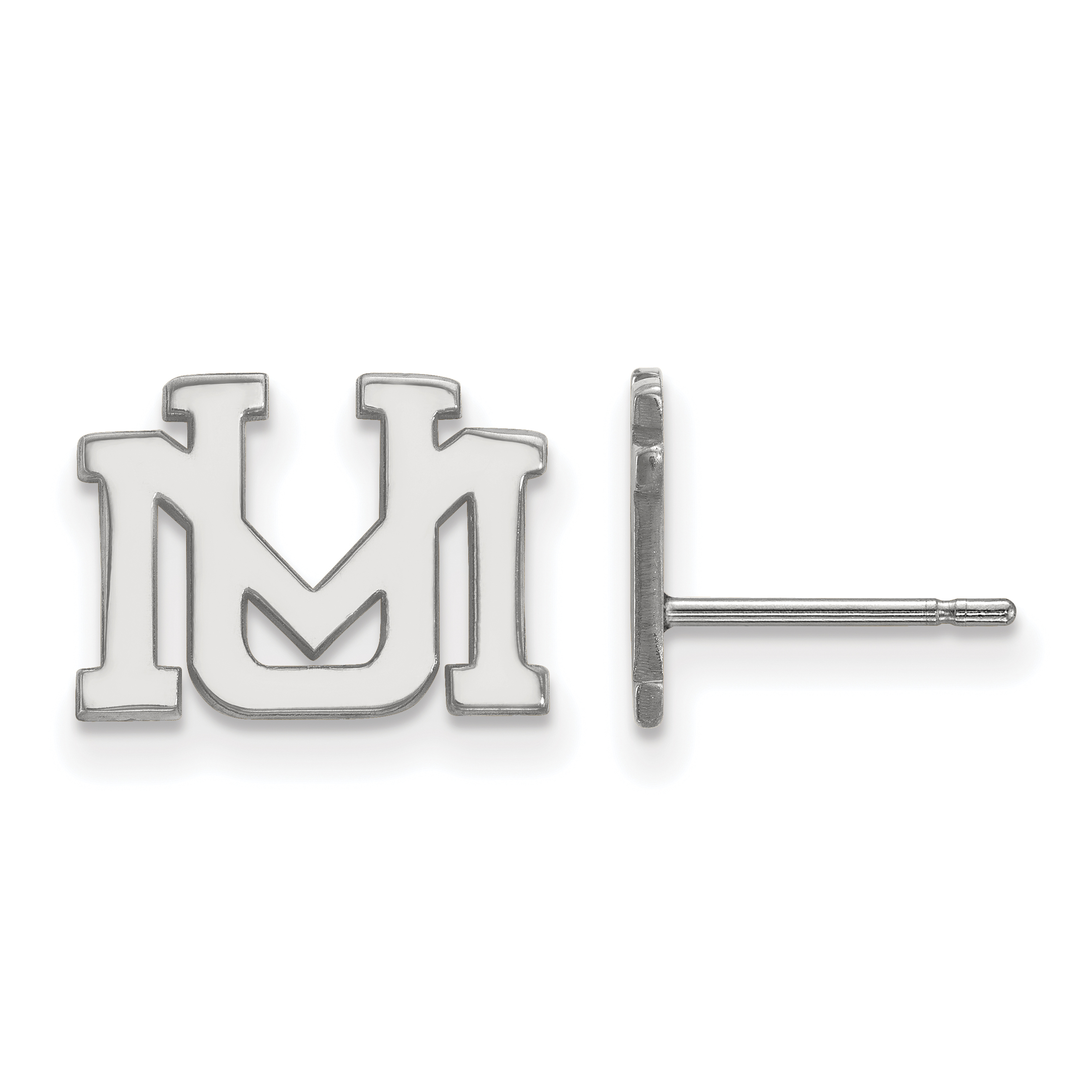10kw University of Montana XS Post Earrings. weight: 1.49, Lengh: 9mm