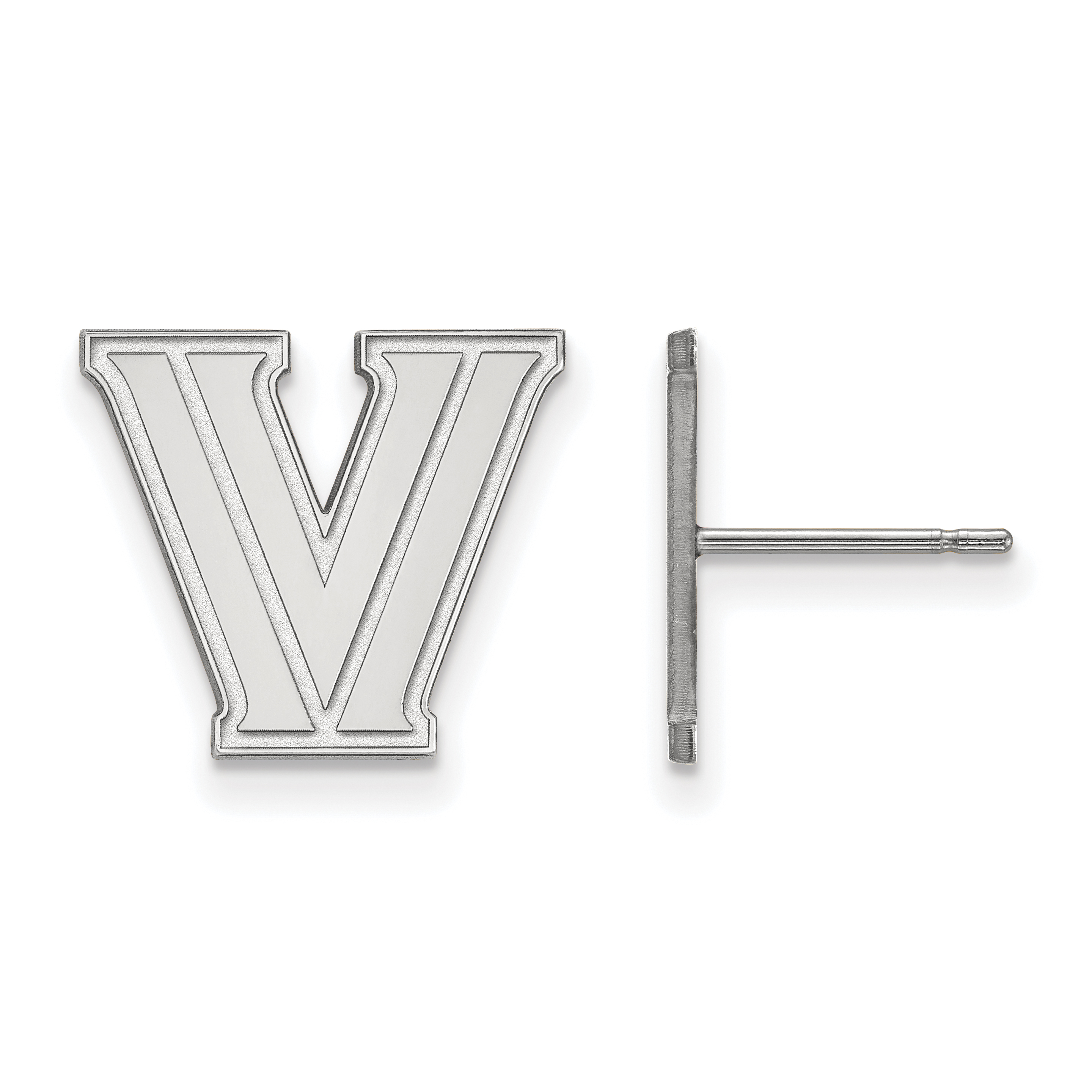 10kw Villanova University Small Post Earrings. weight: 1.74, Lengh: 13mm