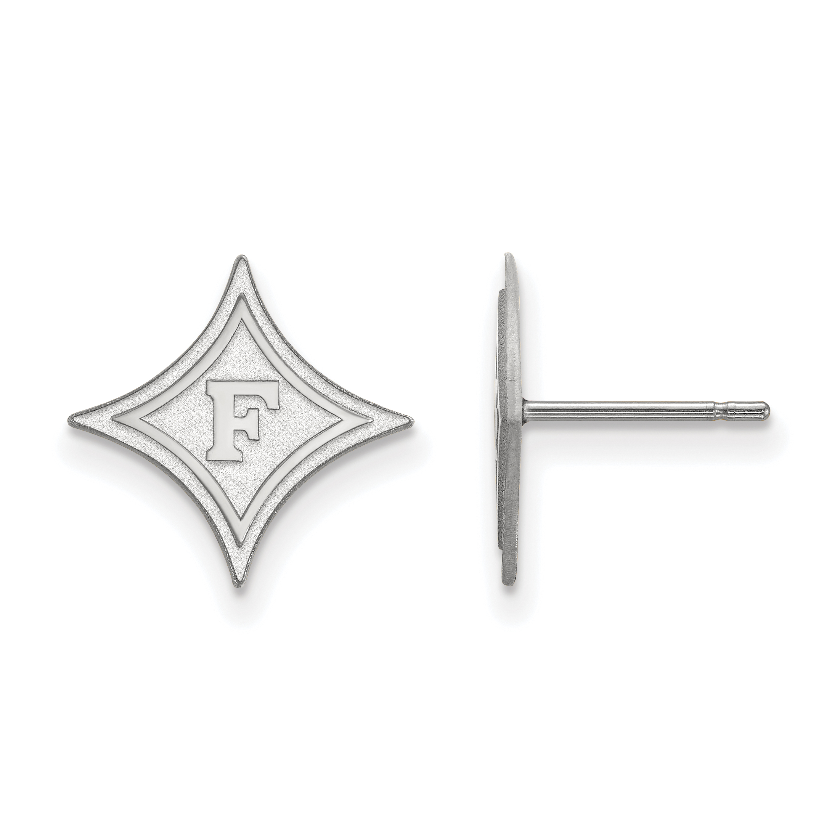 10kw Furman University Small Post Earrings. weight: 0.78, Lengh: 12mm