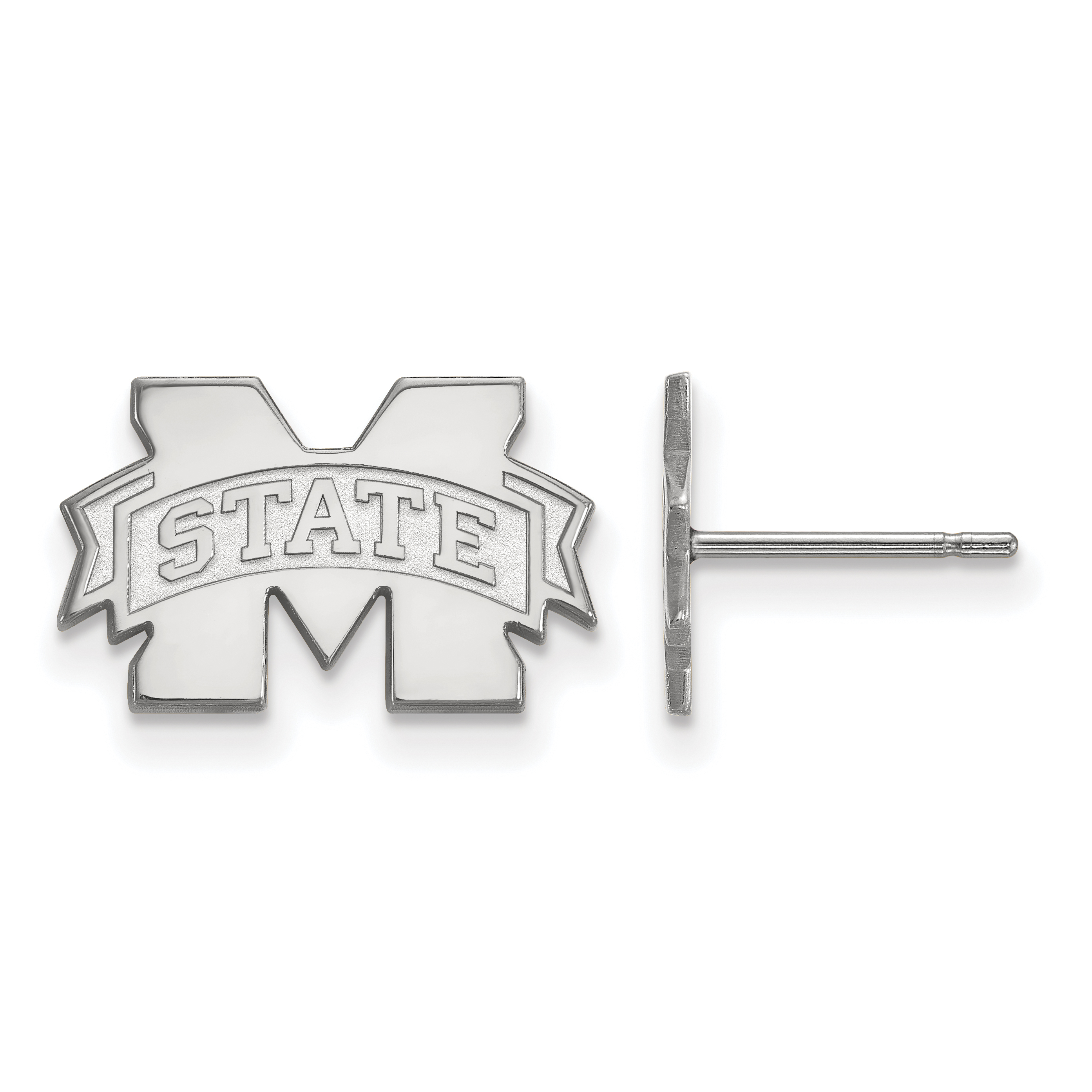 10kw LogoArt Mississippi State University XS Post Earrings