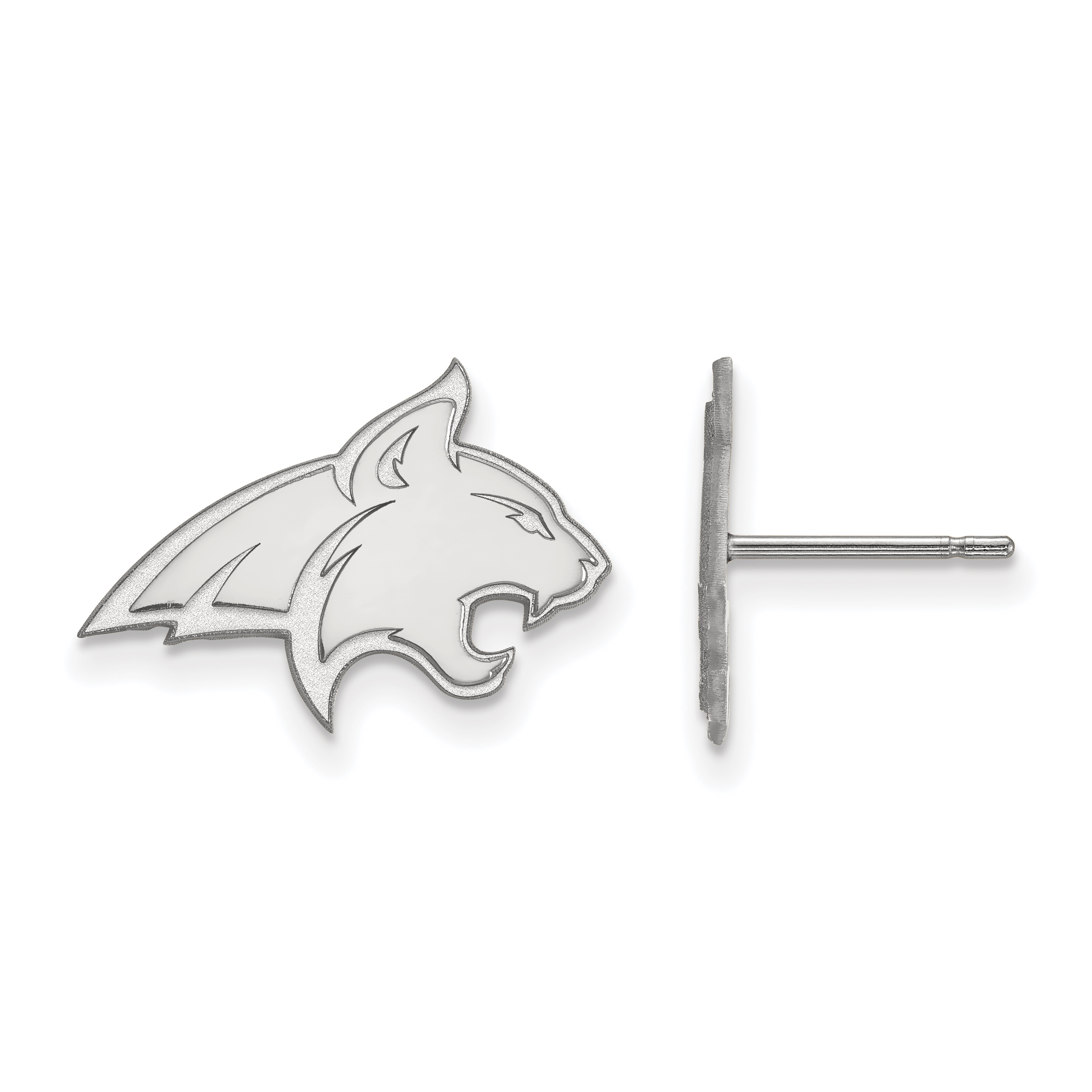 10kw Montana State University Small Post Earrings. weight: 1.63, Lengh: 12mm