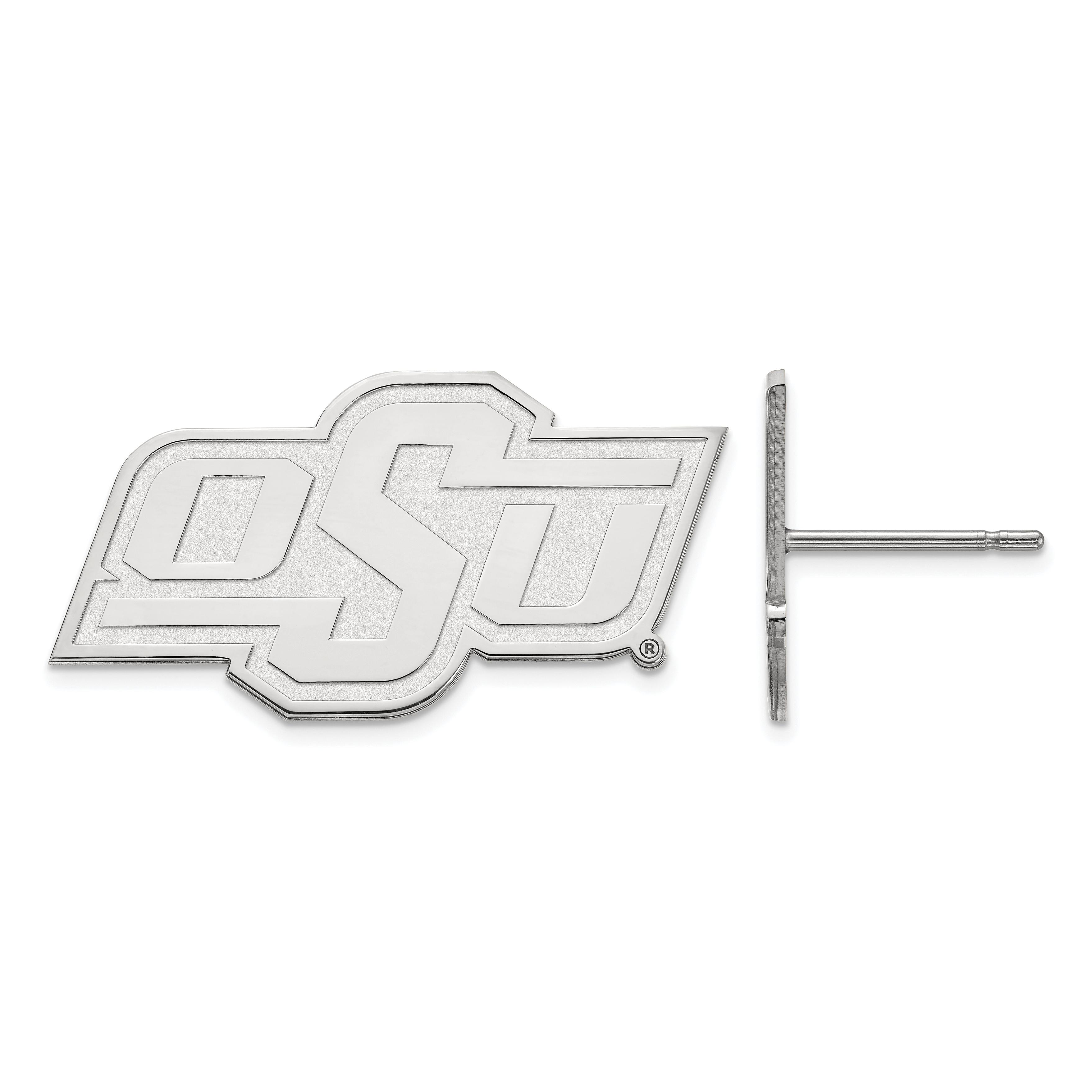 10kw LogoArt Oklahoma State University Small Post Earrings