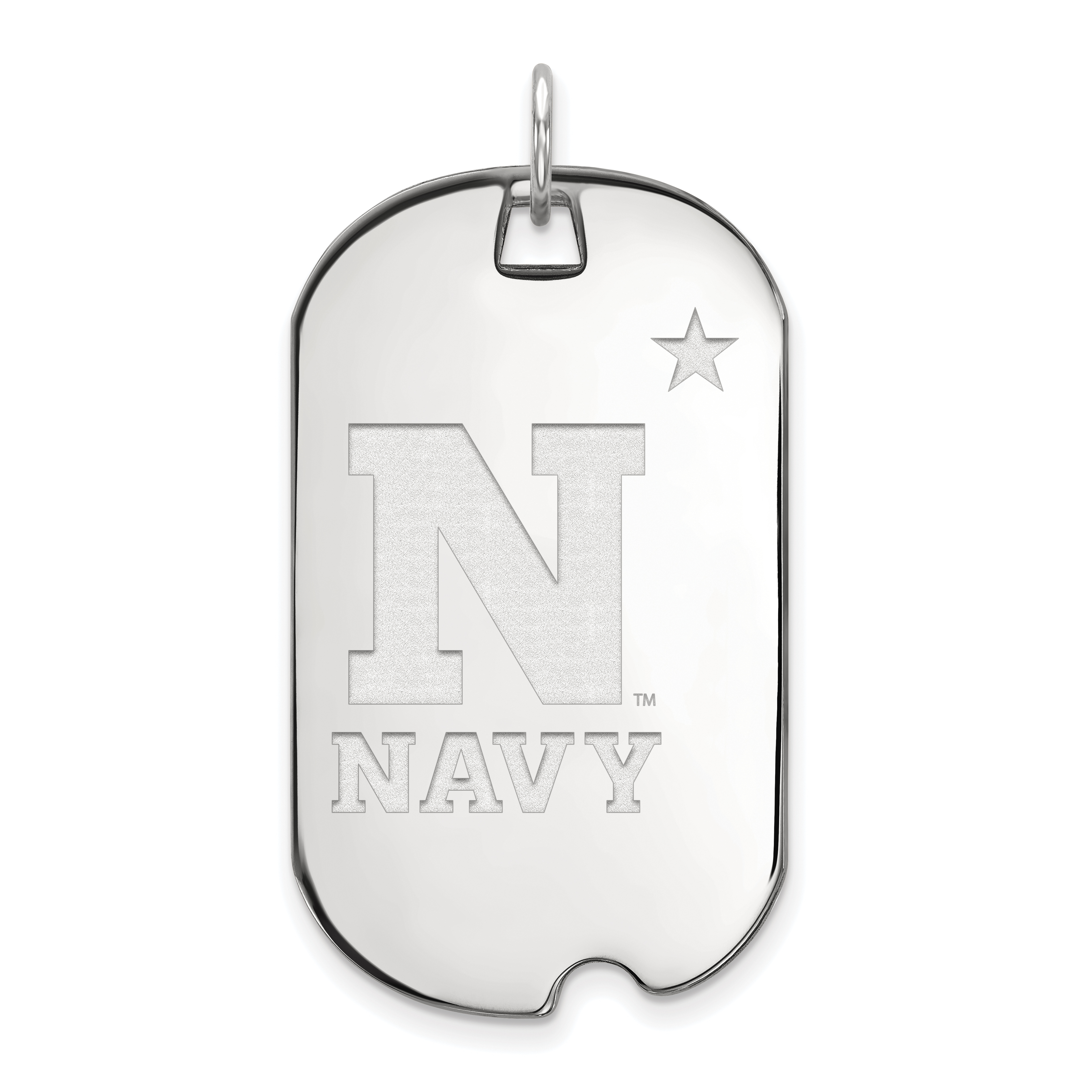 10kw LogoArt Navy Large Dog Tag. Weight: 7.77, Length: 46, Width: 7.77
