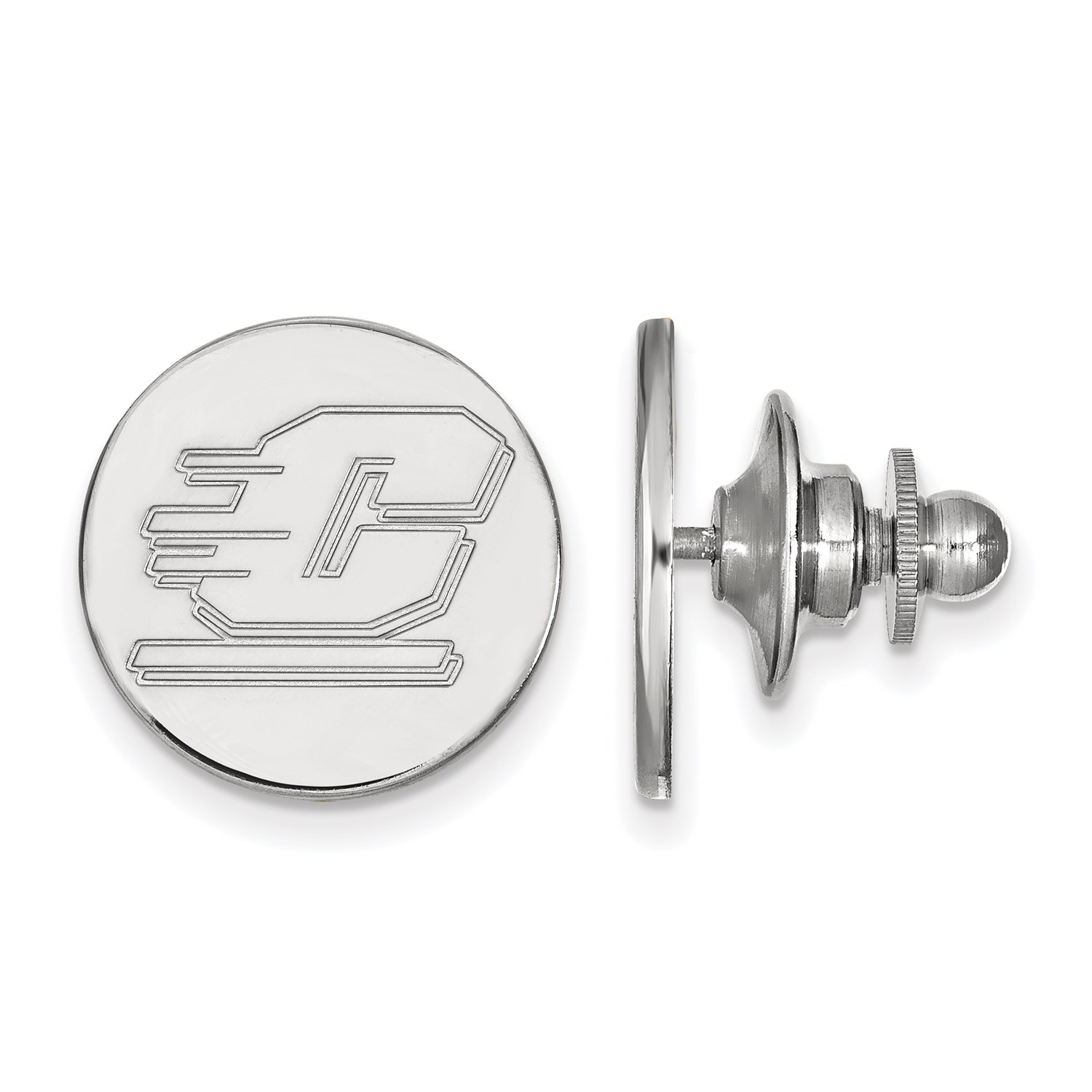 14k White Gold LogoArt Licensed Central Michigan University CMU Lapel Pin