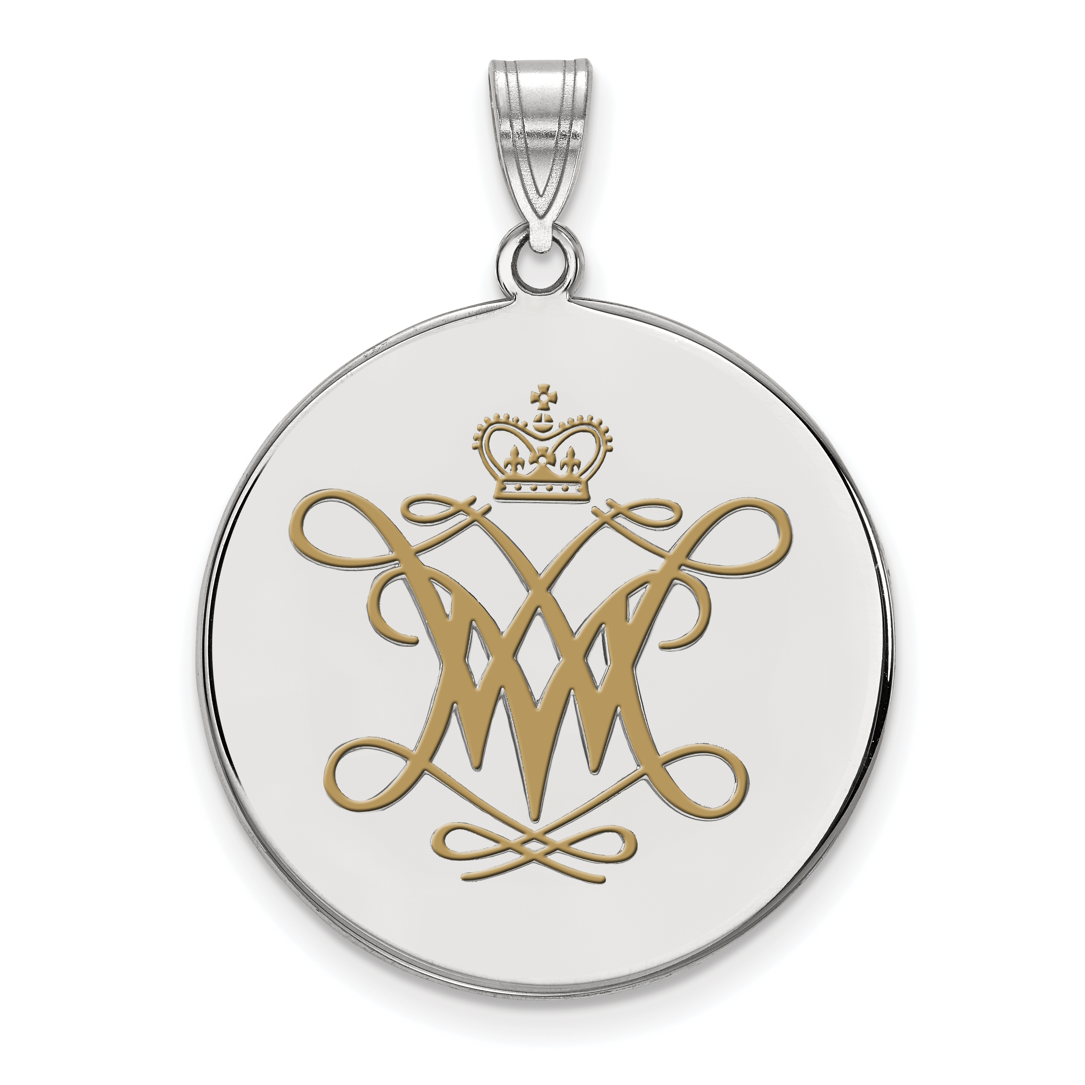 Collegiate William and Mary Sterling Silver LogoArt William And Mary XS Enamel Disc Earrings