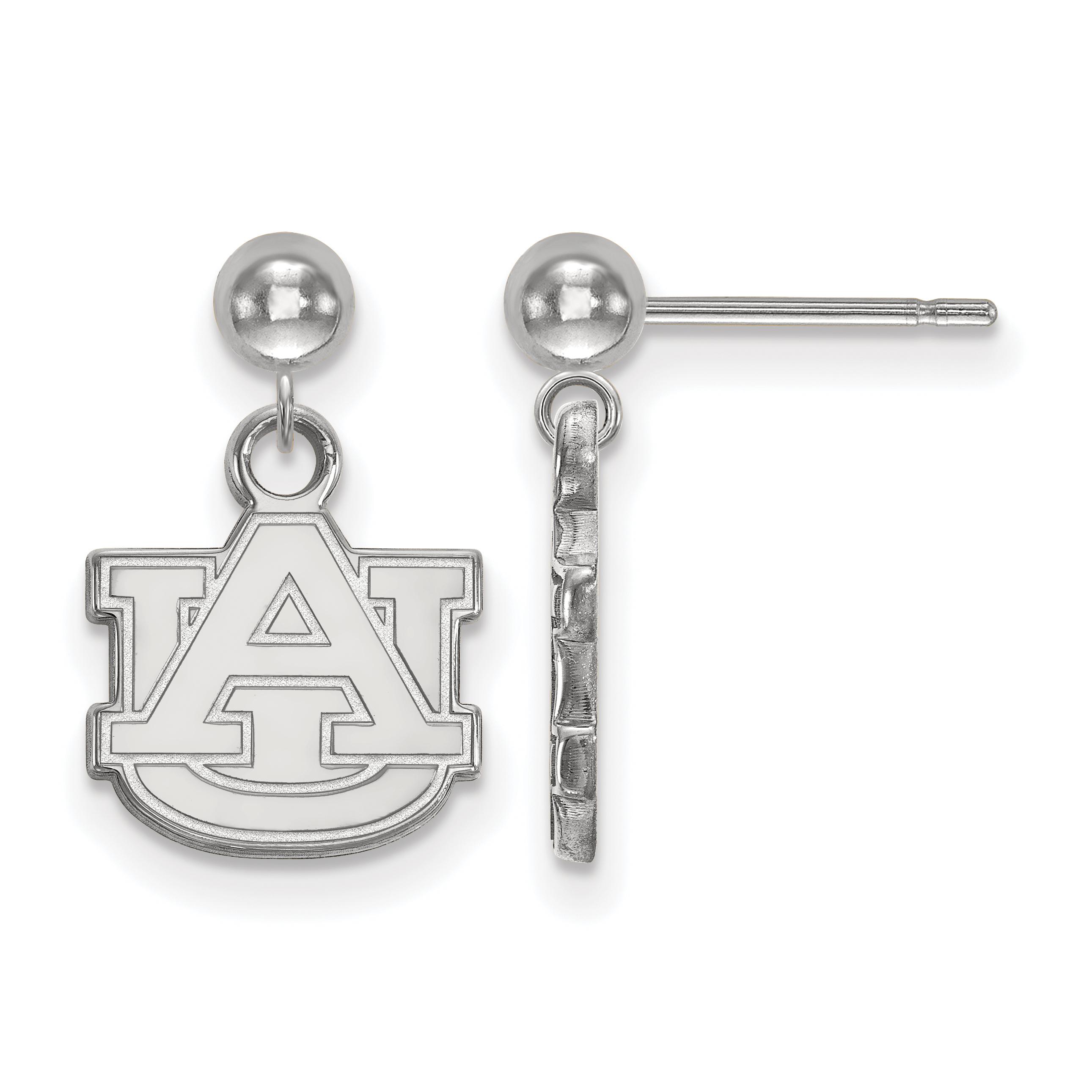 14kw LogoArt Auburn University Earrings Dangle Ball
