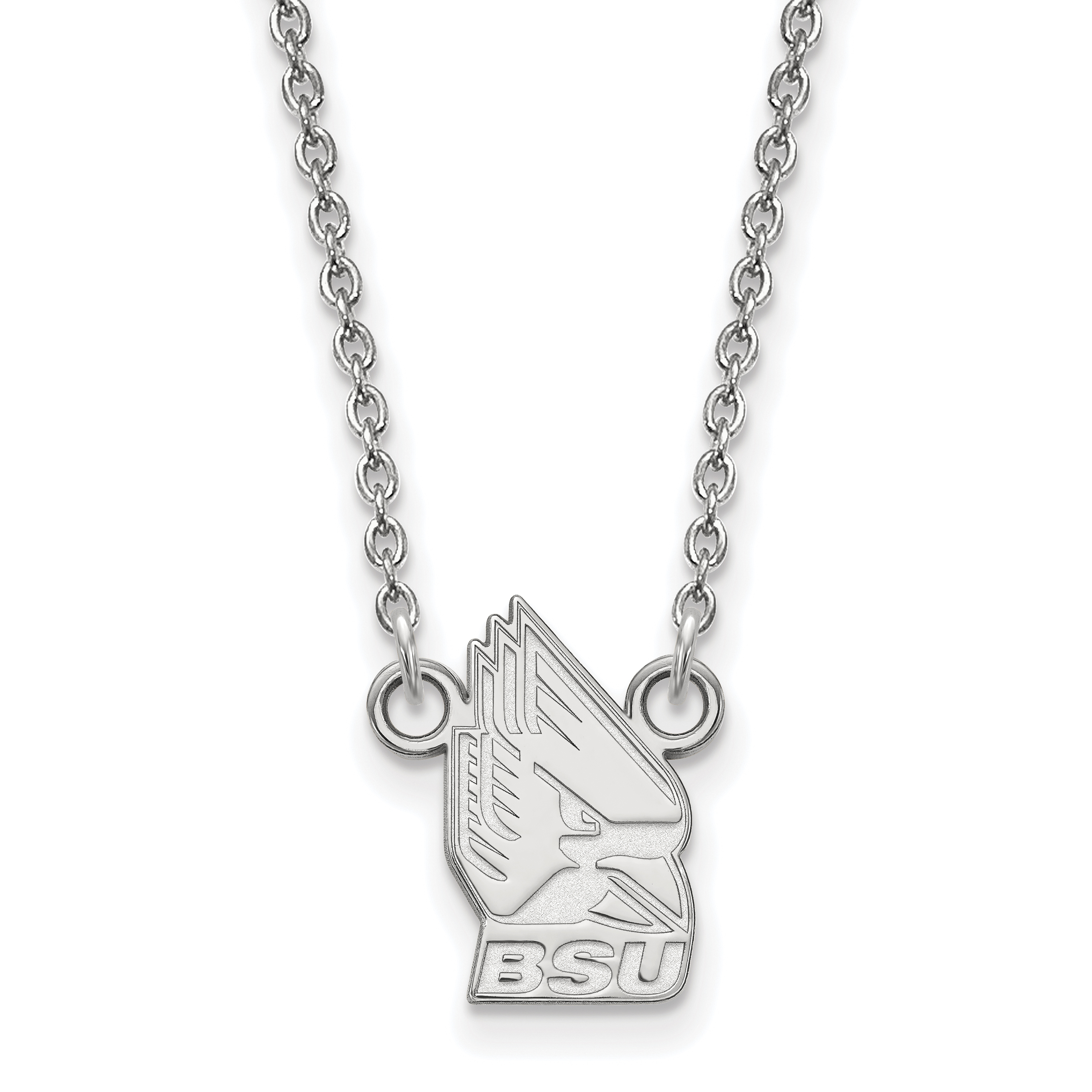 14kw LogoArt Ball State University Small Pendant w/Necklace