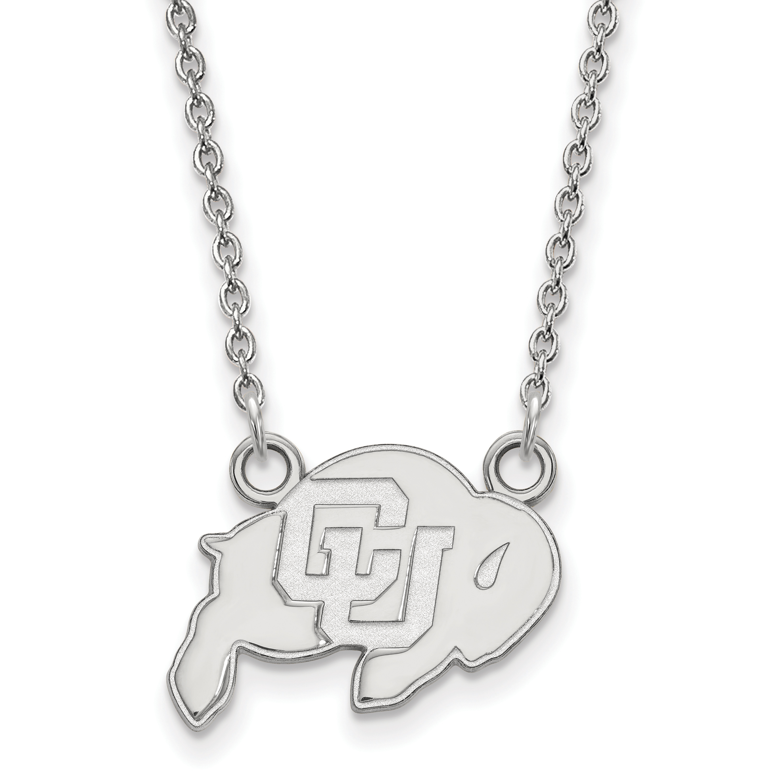 Sterling Silver University of Colorado Medium Pendant by LogoArt SS026UCO