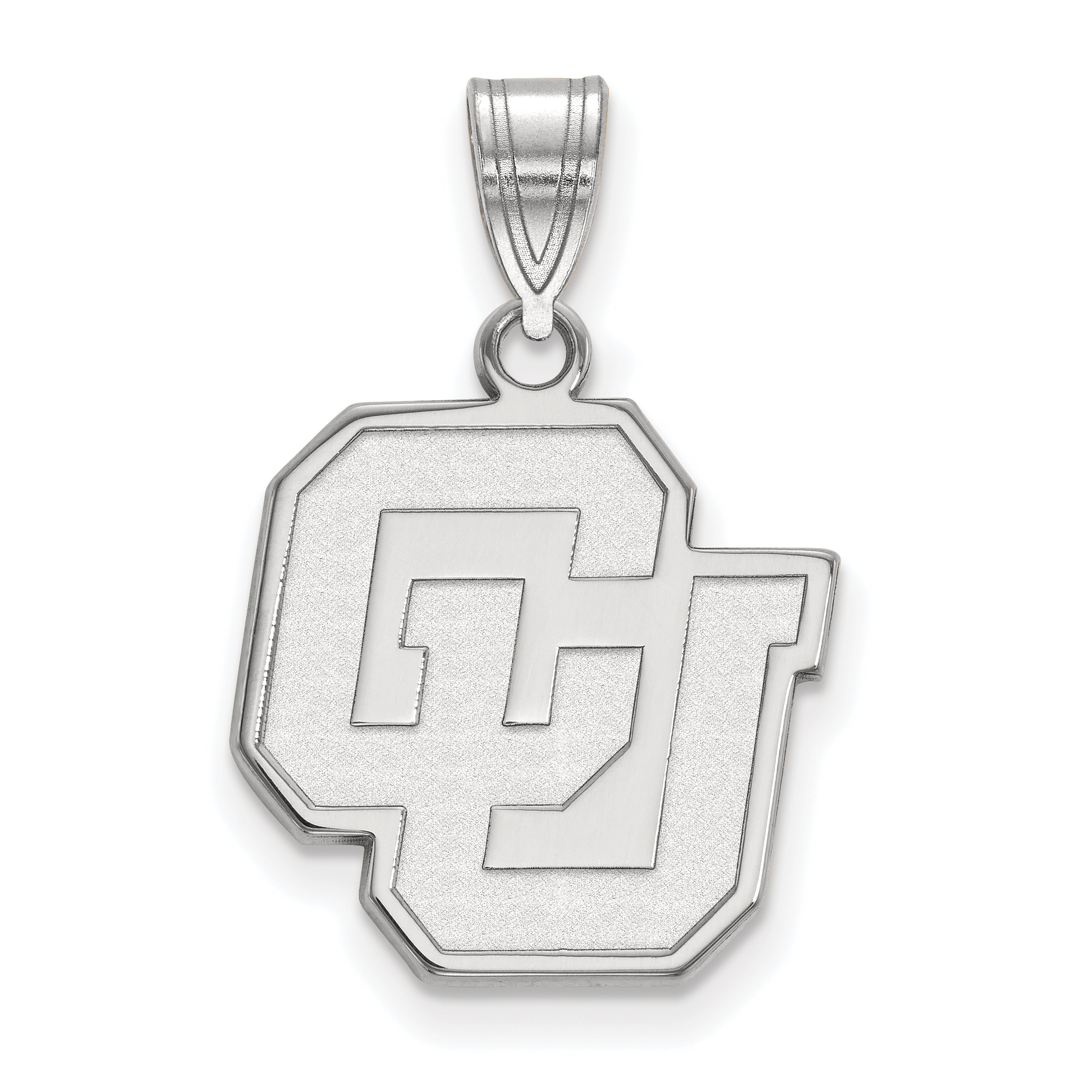SS026UCO Sterling Silver University of Colorado Medium Pendant by LogoArt