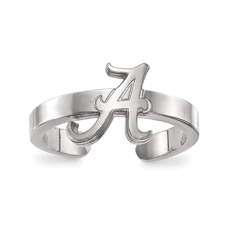 81ab6cc8d Sterling Silver LogoArt Licensed Collegiate University of Alabama (UA) Toe  Ring