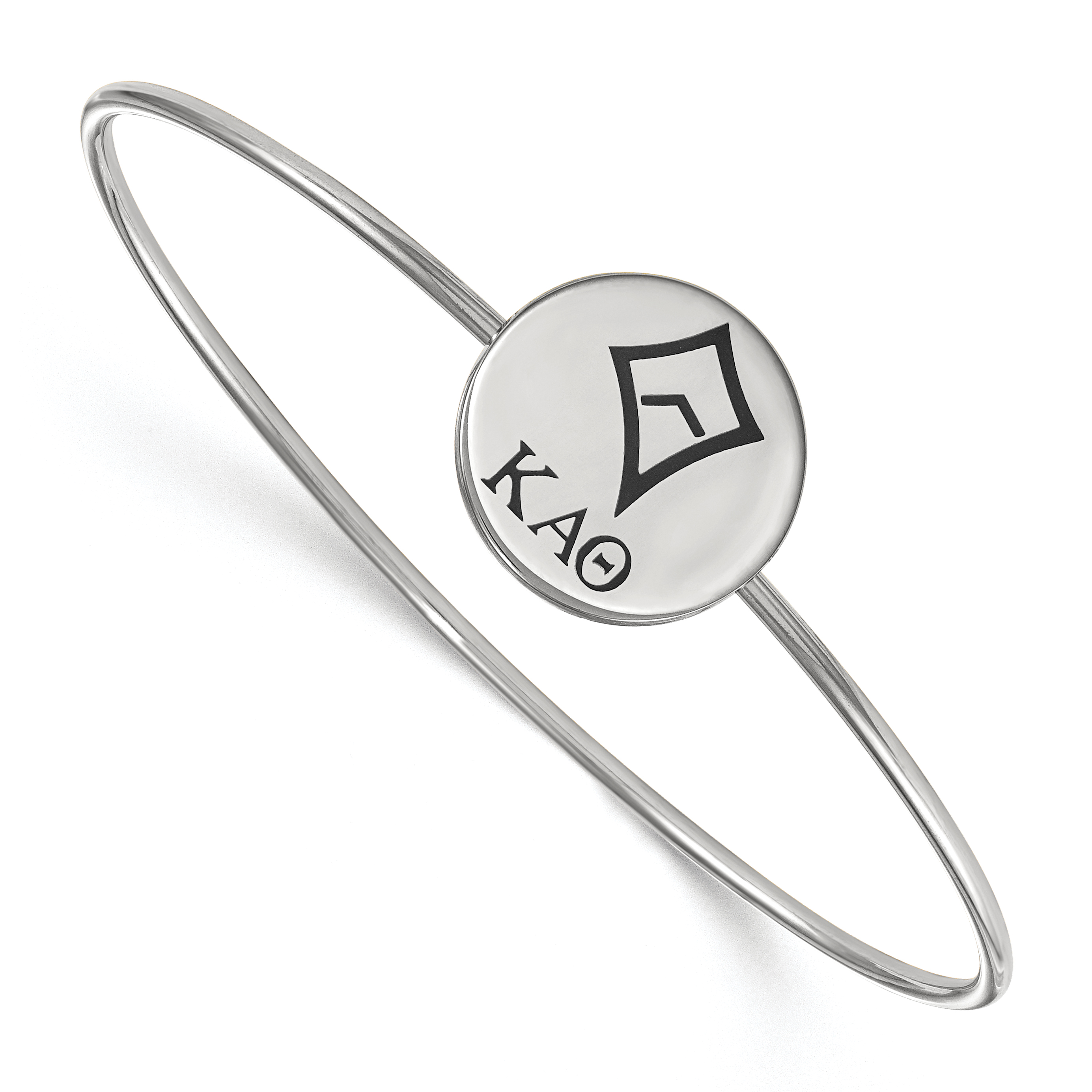 Fine Bracelets 925 Silver Sororities 6in Kappa Kappa Gamma Enameled Slip-on Bangle