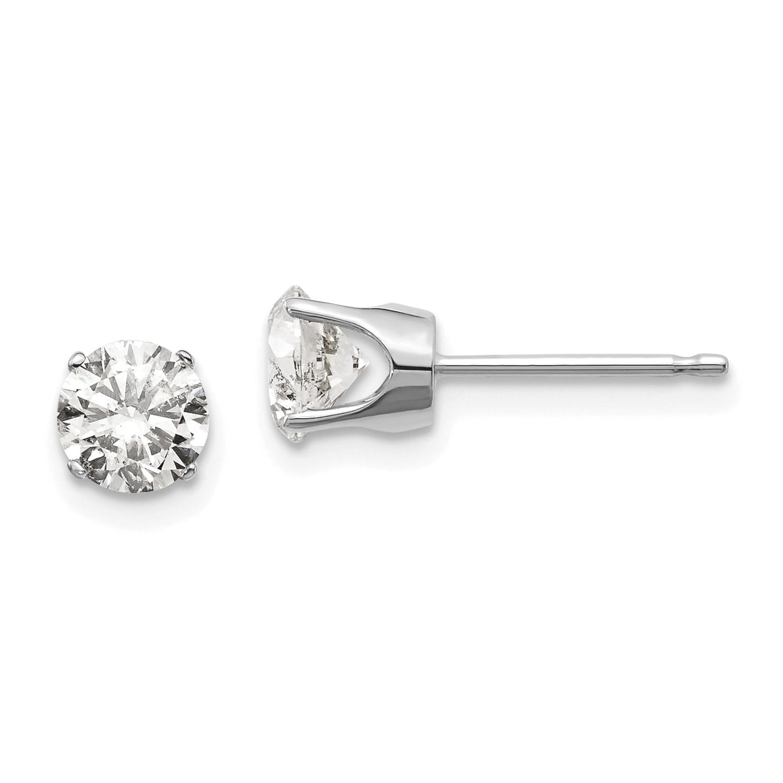 3ae33d08dc2f 14k Oro Blanco 1.00ct. I1 J-K Diamante Tuerca Pendientes Quilate Wt ...