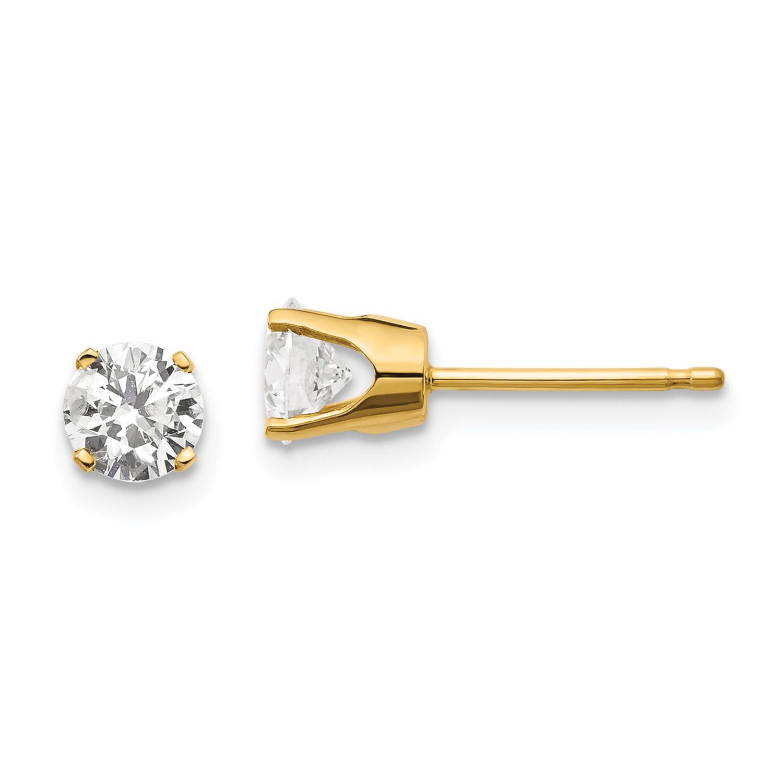 bb7bba7179d5f Stud (4.6MM) 0.850ct Wt- Carat Earrings. Diamond J-K I1 .850ct. gold ...