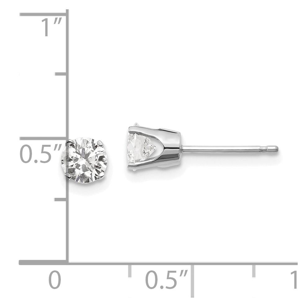 c713631ac626 Oro blanco de 14 k. 85 CT. I1 J-K diamante pendientes del perno prisionero