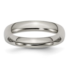 Chisel Anium Polished Comfort Fit 4mm Wedding Band