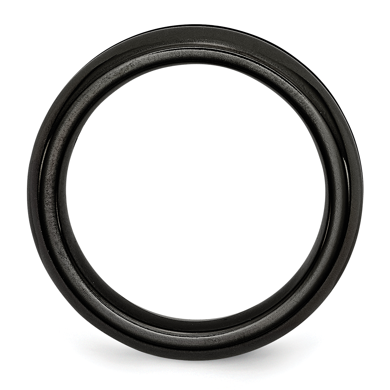 11.5 Jay Seiler Titanium Brown Enamel Flat 8mm Polished Band Size Titanium