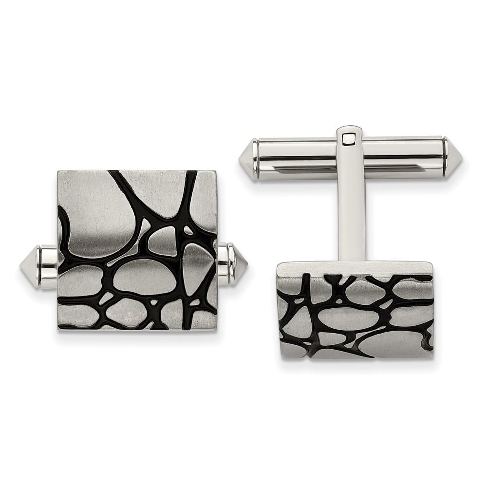 Titanium Black Enameled CufflinksTBC114