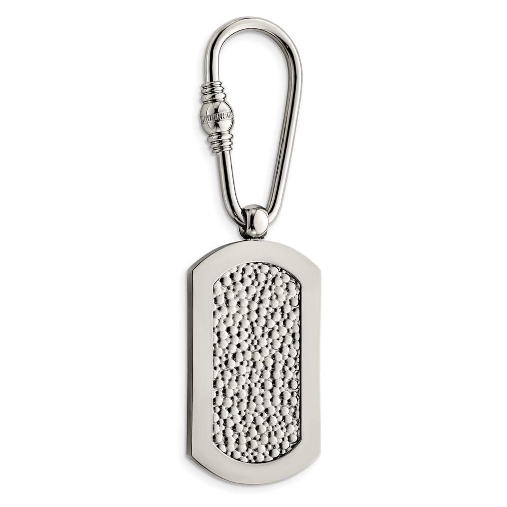 Titanium Pebble Textured Key RingTBK100