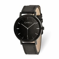 91bb363f51f1f2 Chisel Matte Black IP-plated Black Dial Watch