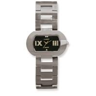 242634f6e04dba Ladies Chisel Tungsten Black Oval Dial Watch