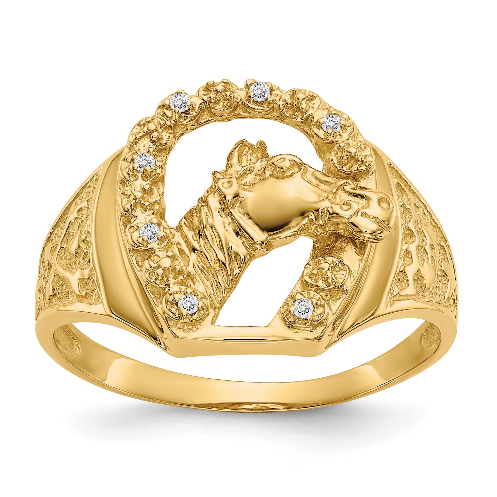 14k White Gold AA Diamond men's ring
