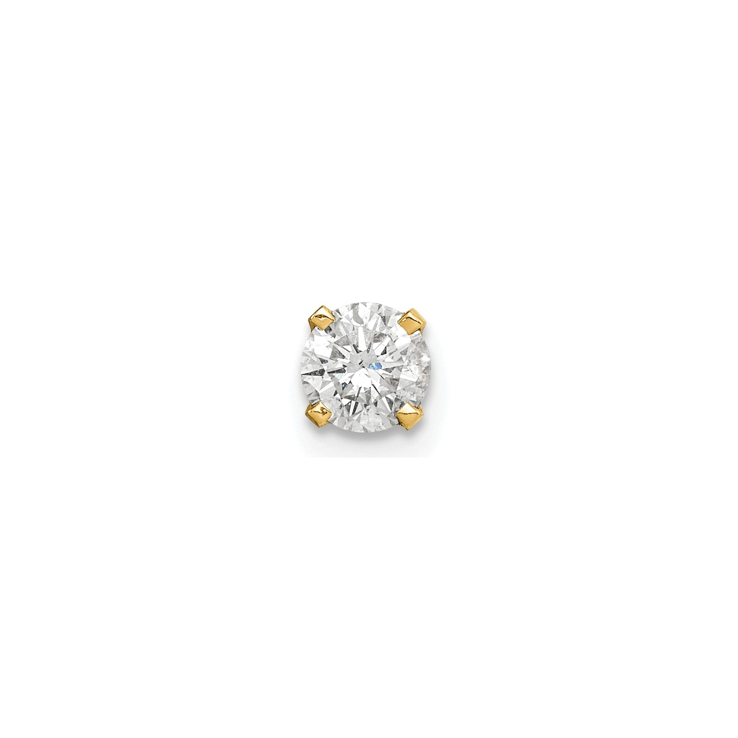 Image Is Loading 14k Yellow Gold G H Quality Single Stud Diamond