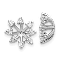 14k White Gold Moissanite Earring Jackets