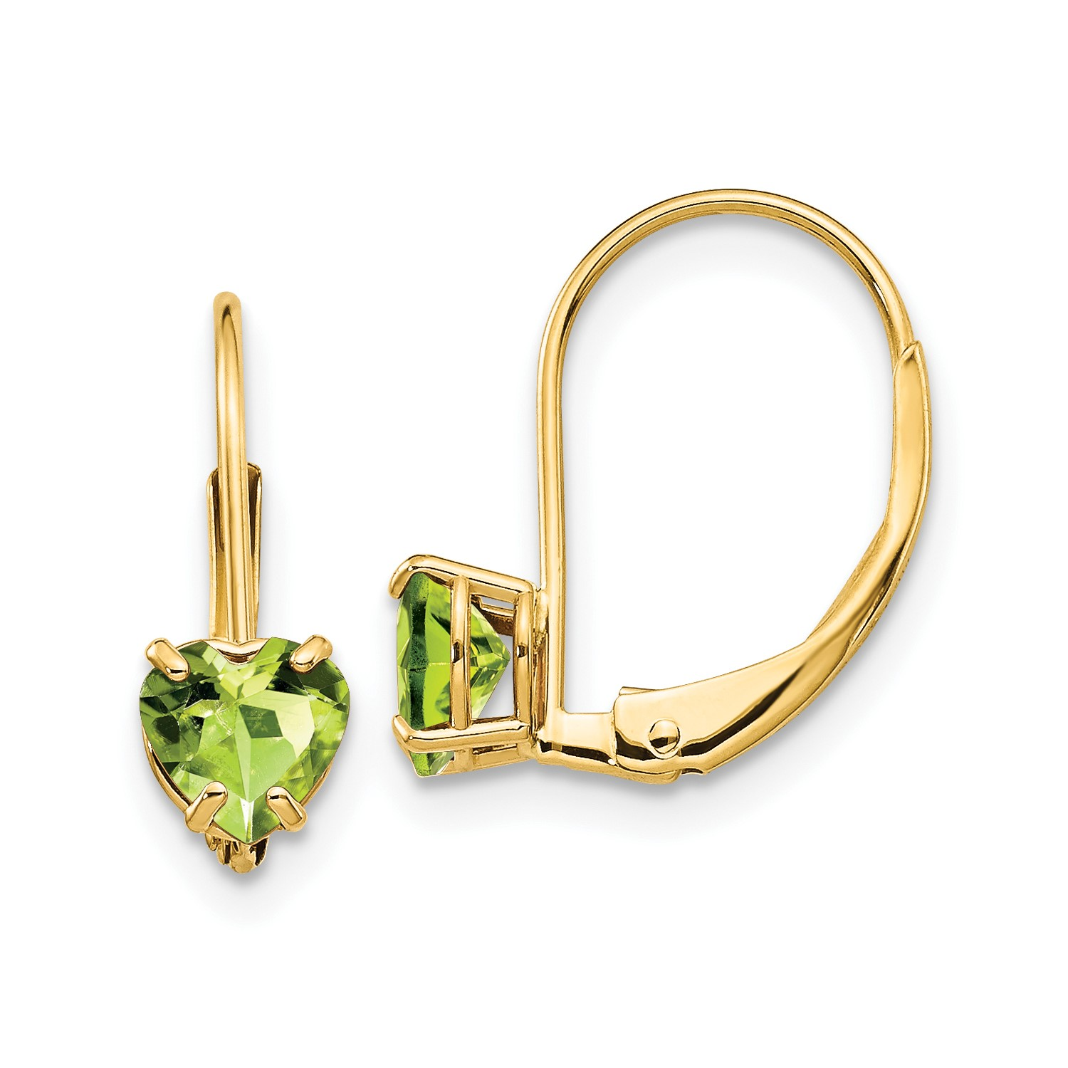 Image Is Loading 14k Yellow Gold 0 6in Long 5mm Heart