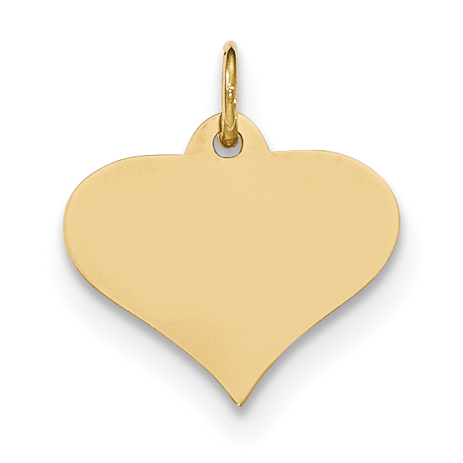 14K Rose Gold .018 Gauge Small Engravable Heart Charm Pendant