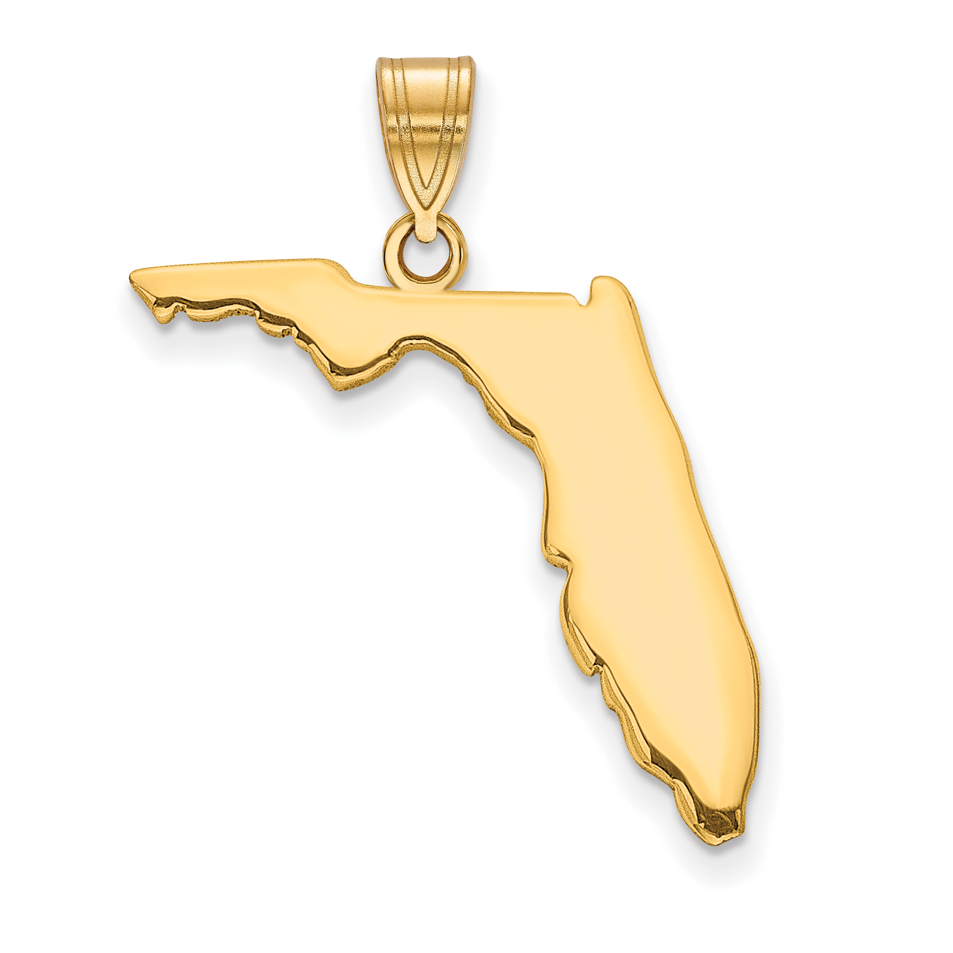 Gold-Plated Vermont State Pendant Bail Only