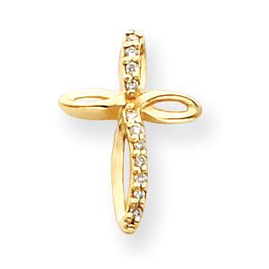 14k VS Diamond cross pendant