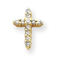 14k AAA Diamond cross pendant