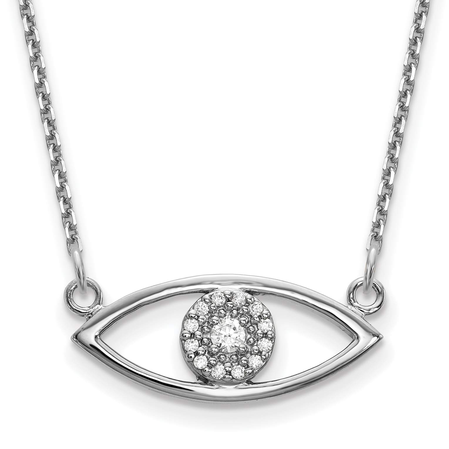 products diamond necklace orelia london charm evil ditsy crystal eye